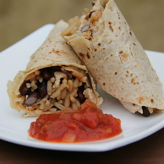 Easy Bean and Rice Wraps