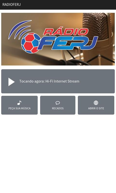 Rádio FERJ- screenshot