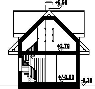 Gajowo 68 dws - Przekrój