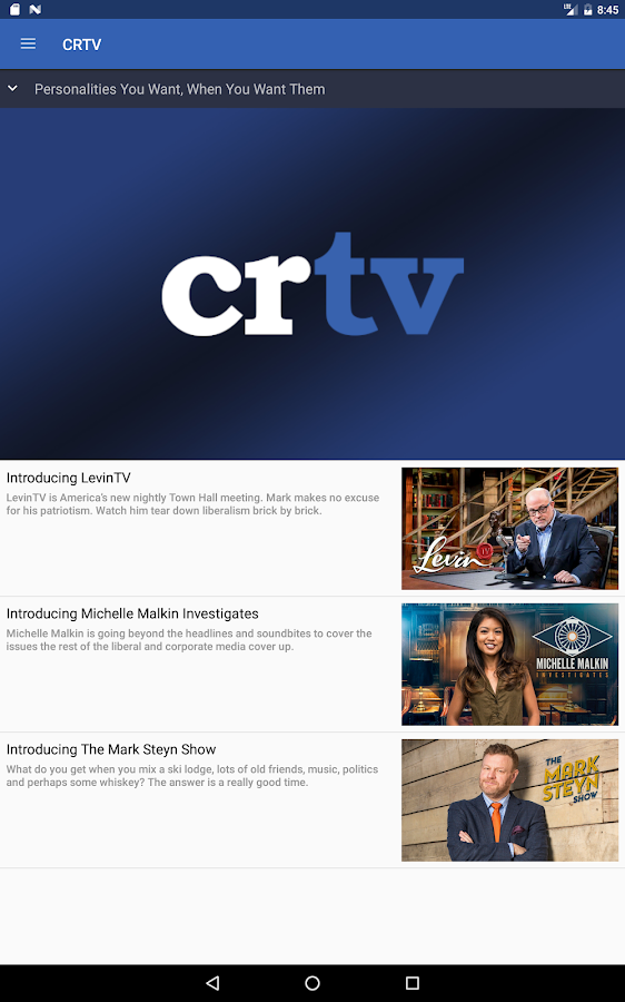 CRTV- screenshot