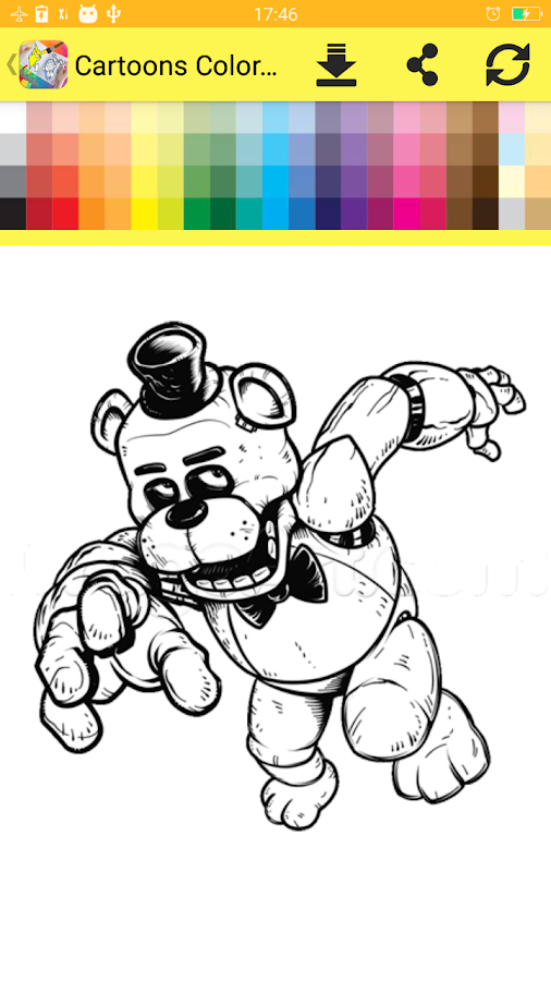 Cartoons Coloring Book Screenshot