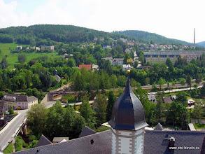 Photo: Zschopau. Uitzicht vanaf Slot Wildeck.