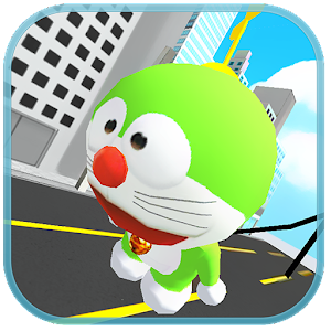 Green Robot Cat Copter Surfers for PC and MAC