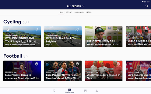 eurosport player screenshot thumbnail