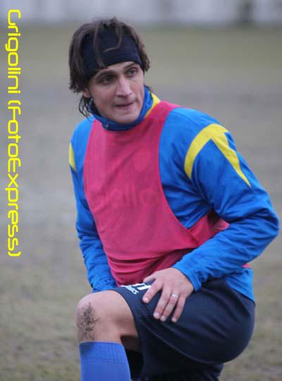 Francesco Di Gennaro al primo allenamento...