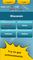 Screenshot of 50 US States Quiz