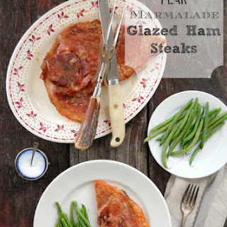 Pear-Marmalade Glazed Ham Steaks
