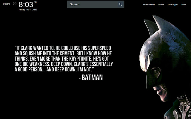 Movie Wallpapers With Quotes Theme New Tab
