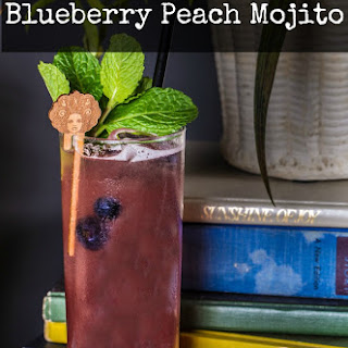 Mint For Each Other Blueberry Peach Mojito Cocktail
