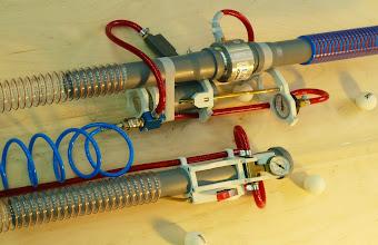 Photo: Venturi nozzles: The early prototypes of the ball sucker