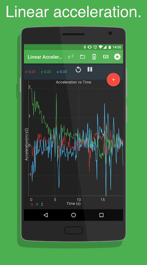 physics toolbox accelerometer 2