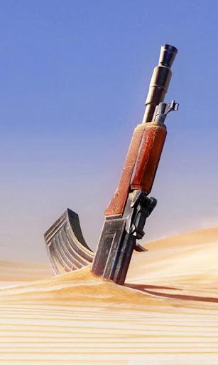 Gun in Sand Live Wallpaper