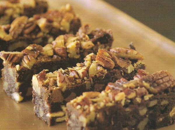 Triple Chocolate Pecan Bars Recipe