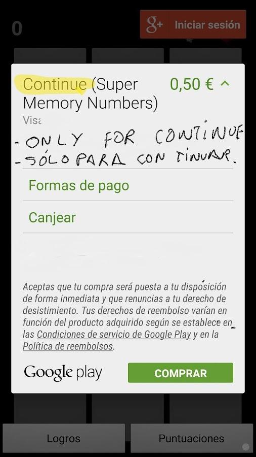 Super Memory Numbers- screenshot