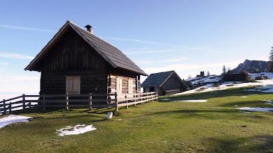 Photo: koča na planini Blekova tik ob meji OE/S5