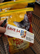 Photo: So that's exactly what we did...we went for the new variety -- the Meow Mix Tender Centers (13.5lb bag). Our cats like Meow Mix, so I know they will most likely love this. I'm excited that we get $4 off on the movie too.