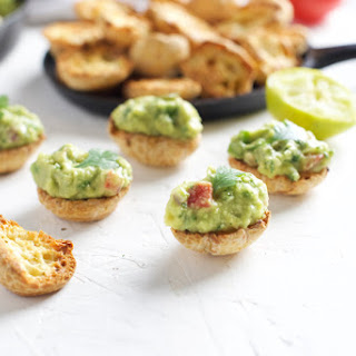 "CRISPY BRAZI BITES BRAZILIAN CHEESE BREAD ""CHIPS"" WITH GUACAMOLE"