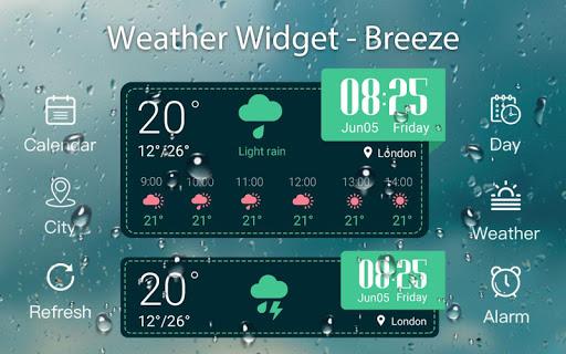 Weather & Clock Widget -Breeze Screenshot