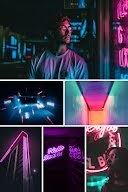 Neon Collage - Photo Collage item