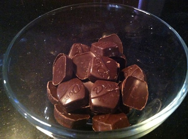 IN A MICROWAVE SAFE BOWL ADD UNWRAPPED CHOCOLATES N NUKE  UNTIL MELTD ...