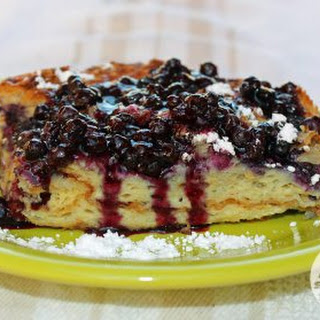 Wild Blueberry Croissant French Toast Casserole Recipe
