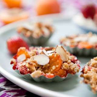 Apricot, Almond & Strawberry Crumble