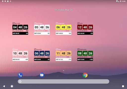 World Clock Widget + App Report on Mobile Action - App Store