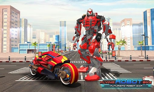 Real Flying Robot Bike : Robot Shooting Games 5