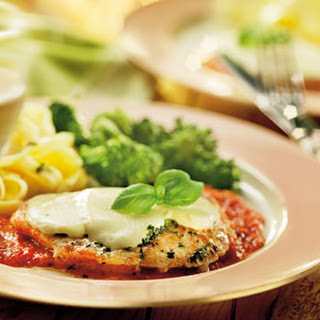 Kalfsschnitzel Met Mozzarella En Verse Tomatensaus