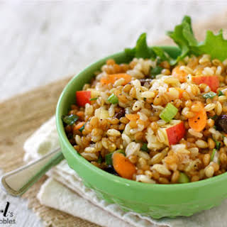 Three-Grain Salad with Sweet Red Onion Dressing.
