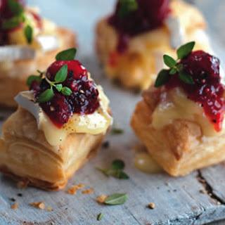Cranberry Camembert puffs.