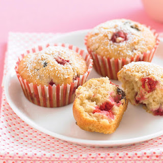 Raspberry and Chocolate Muffins.