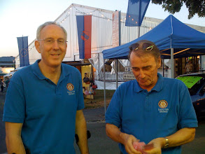 Photo: Werner Kley, 2010-2011 President of the Rotary Club of Eberbach with Immediate Past President Klaus Diegritz. Werner is District Director of the State Lottery.