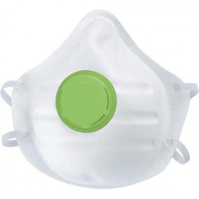 Полумаска фильтрующая (респиратор) Сибртех, с клапаном выдоха, FFP1, 10 шт.
