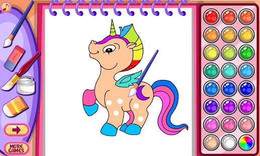 unicorn coloring book screenshot thumbnail