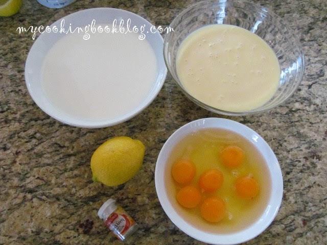 Крем карамел с подсладено кондензирано мляко и лимон