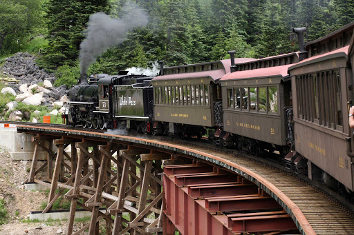 Skagway-White-Pass-Train.jpg - Guests on American Cruise Lines can ride the White Pass train and enjoy a closer look at Alaska's landscapes.