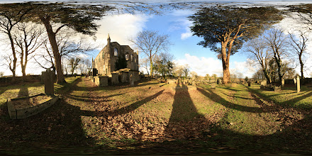 Photo: A photosphere of the eastern elevation of the Old Church in Saint Day, Cornwall. #photosphere #Cornwall