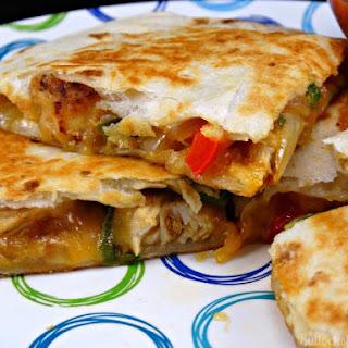 Chicken and Cheddar Quesadillas