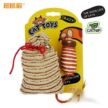 田田貓 紅繩福袋+老鼠 貓薄荷/貓草 貓玩具