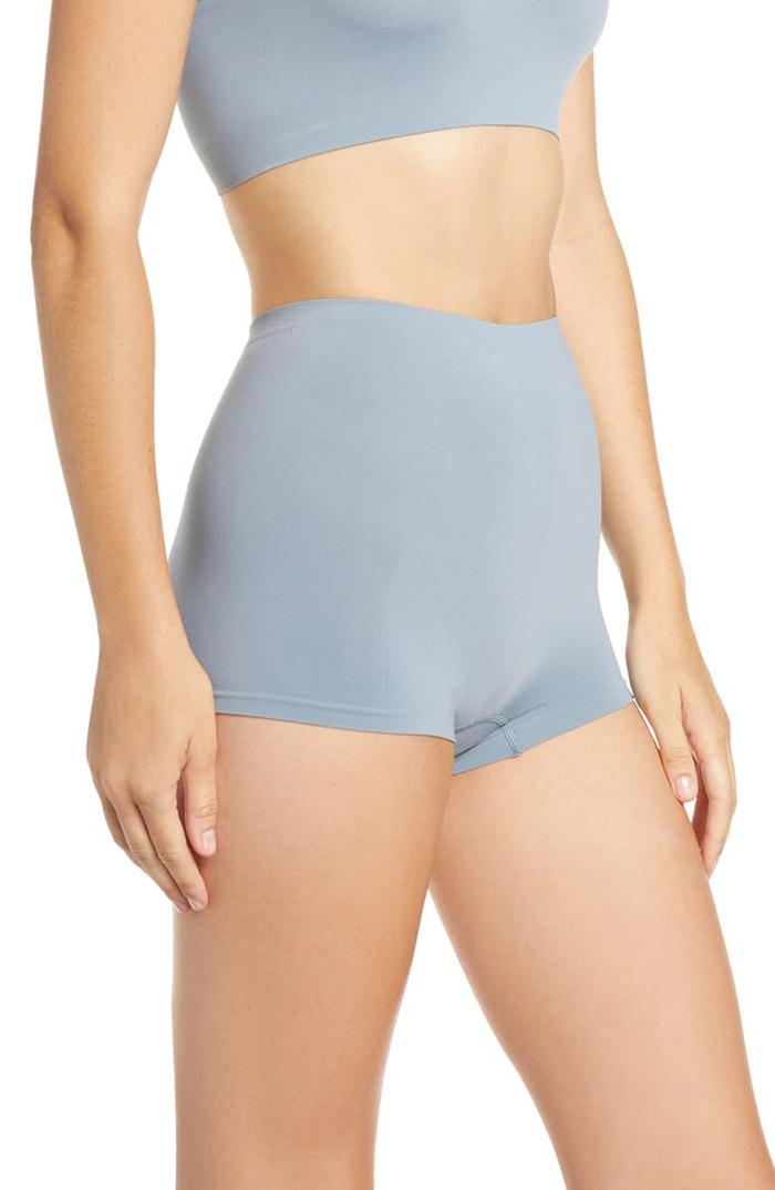 Hanro Hanro Touch Feeling High Waist Boyleg Briefs to wear under leggings