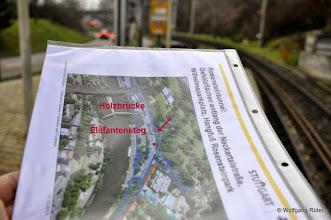 """Photo: Blick von der U-Bahn-Haltestelle """"Wilhelma"""" in Richtung Leuze-Tunnel"""
