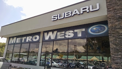 Photo: MetroWest Subaru in Natick, MA proudly displaying their BBB Accreditation
