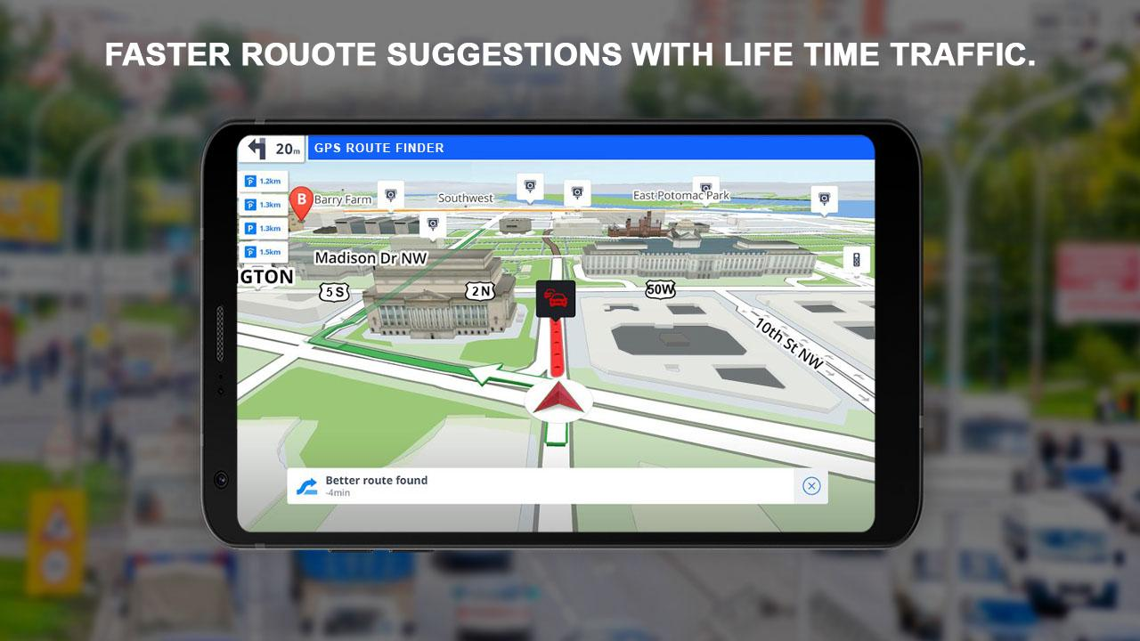 GPS Navigation: GPS Route, Live Maps & Street View- screenshot