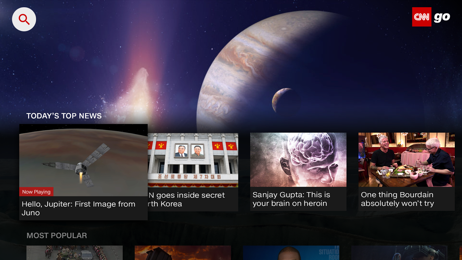 CNNgo for Android TV- screenshot