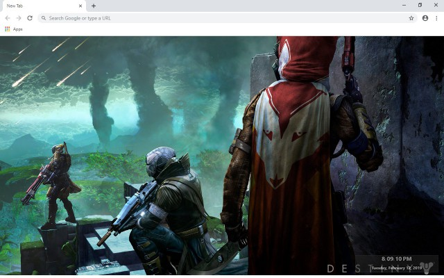 Destiny 2 New Tab & Wallpapers Collection