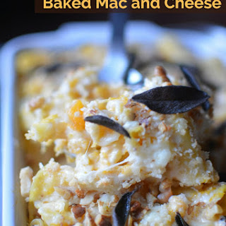 Half-Healthy Butternut Squash Baked Mac and Cheese