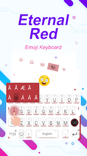 Eternal Red Theme&Emoji Keyboard - náhled