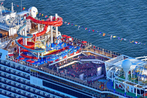 Join in the fun on the Lido Deck of Carnival Panorama, the new 4,000-passenger ship for 7-night jaunts from LA to the Mexican Riviera.
