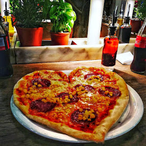 Pizza heart ❤ by Baks Berbl - Food & Drink Eating